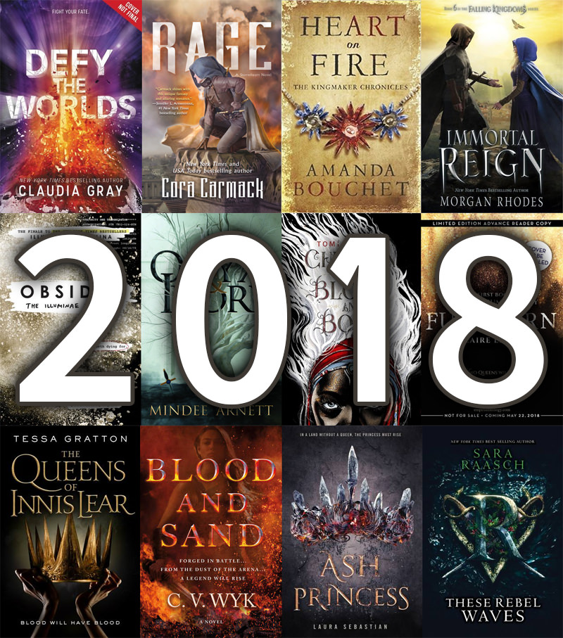 New fantasy books releasing in 2018