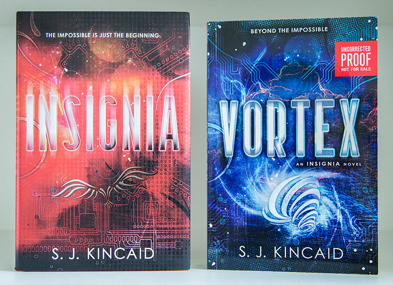 Insignia hardcover and Vortex advanced reading copy