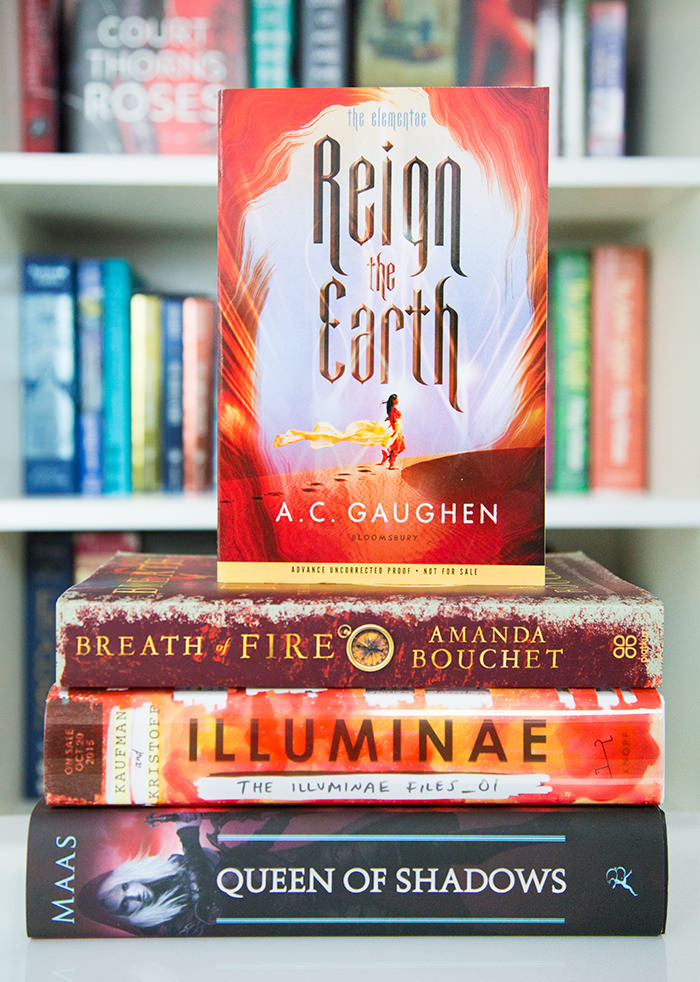 Reign the Earth on a stack of other books
