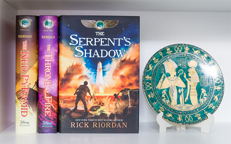 The Serpent's Shadow with the rest of the Kane Chronicles series
