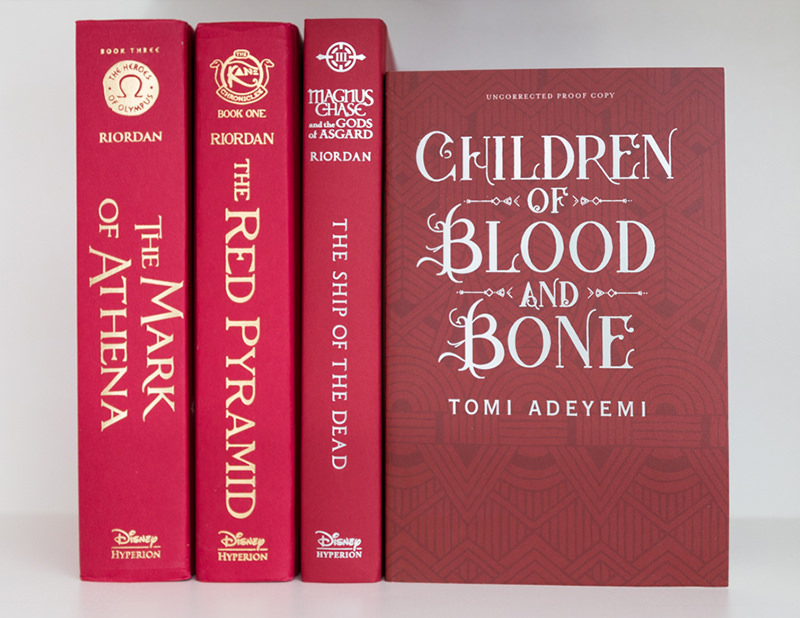 UK advanced reading copy of Children of Blood and Bone by Tomi Adeyemi