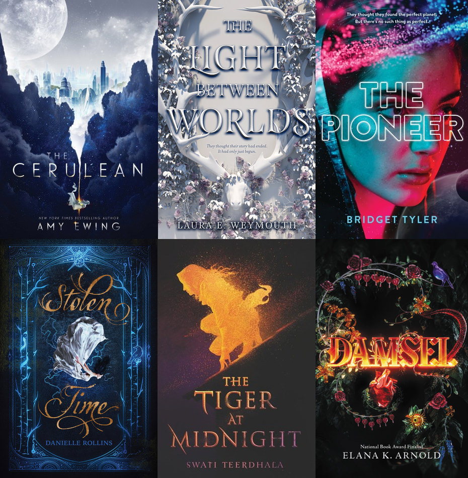6 HarperCollins fantasy books in 2018 and 2019