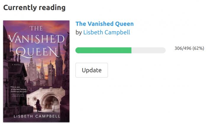 Reading progress tracker on Bookhype