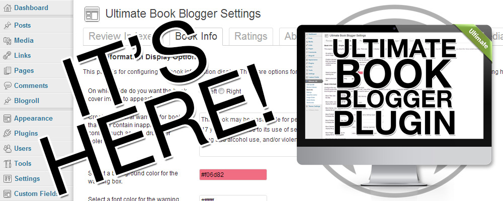 It's here!  The Ultimate Book Blogger Plugin